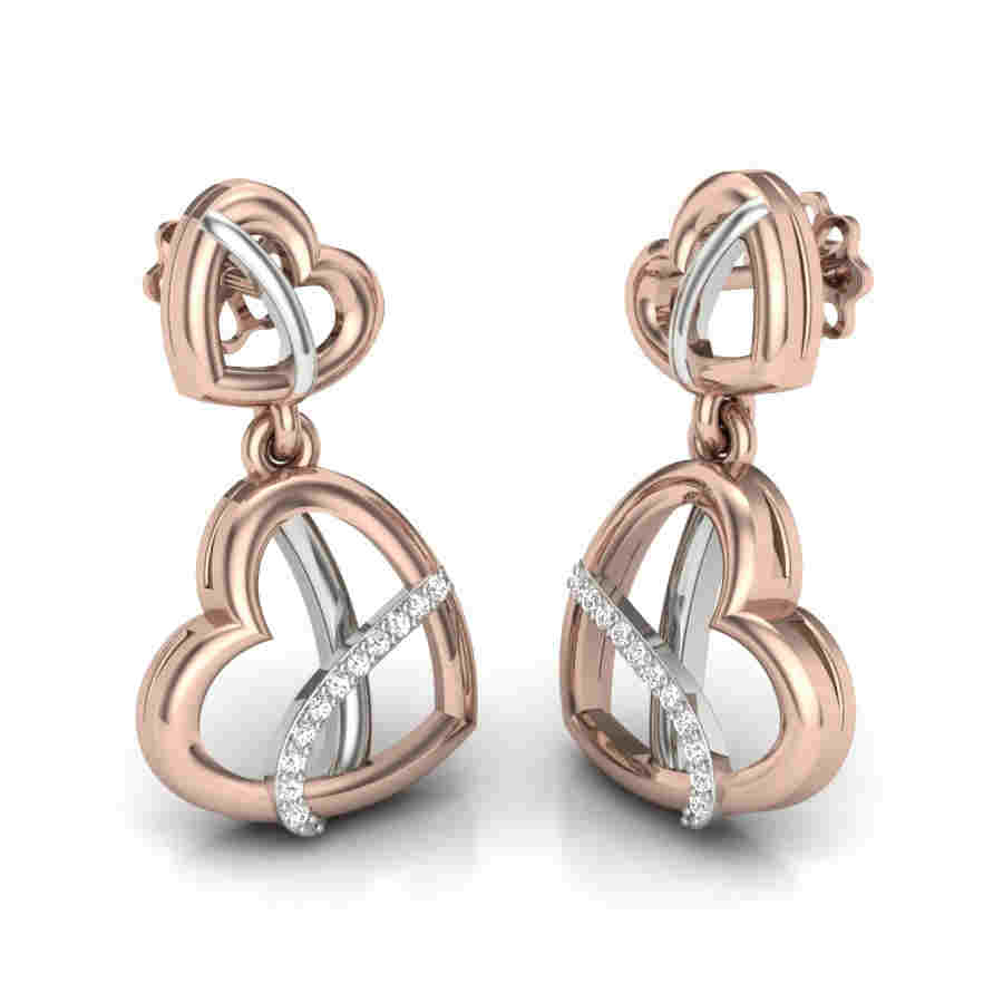 Two Heart's With Latkan Earrin