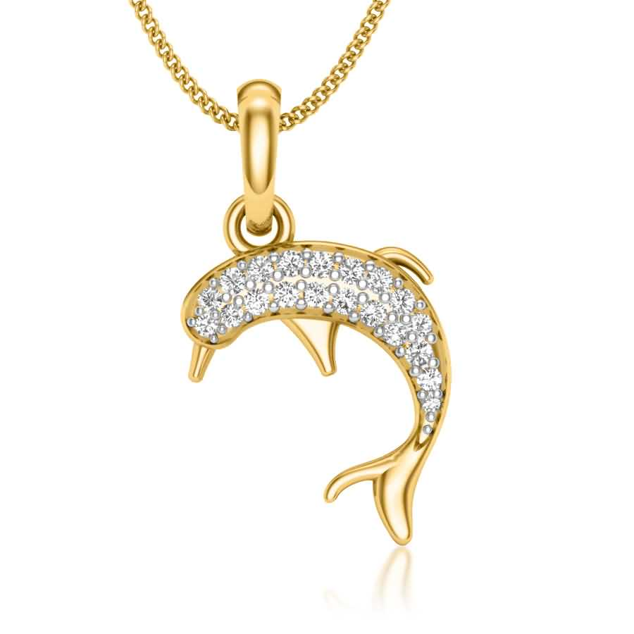 Shimmering Dolphin Pendant