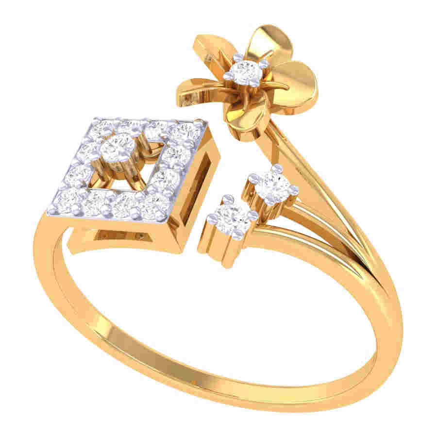 New Flower Shape Diamond Ring