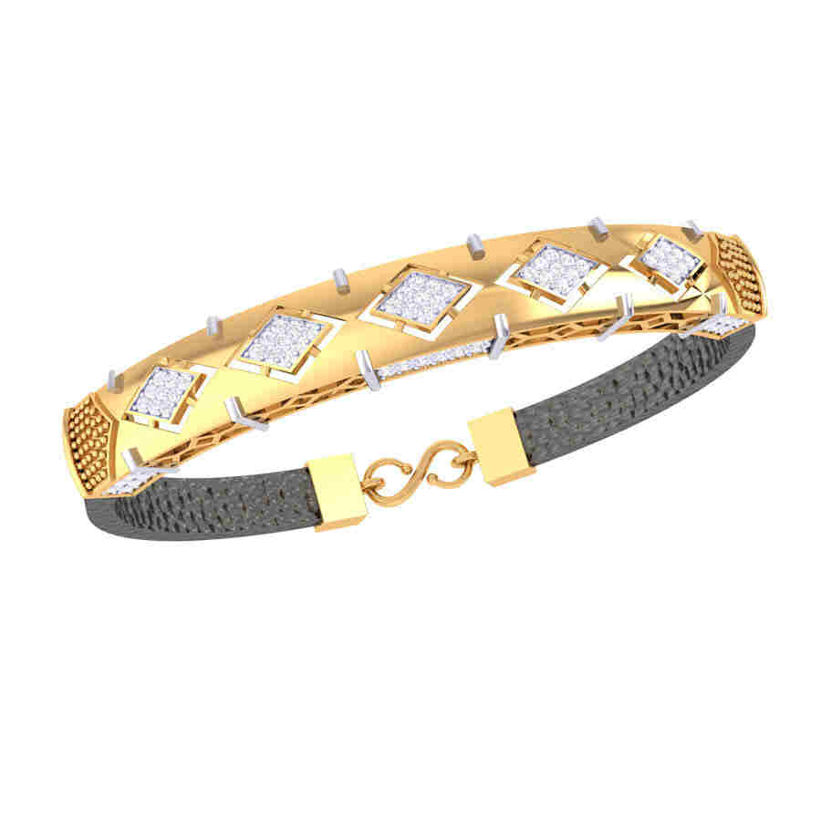 Square Design Diamond Bracelet