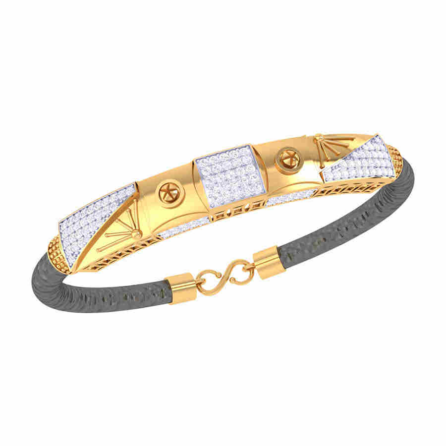 Center Square Diamond Bracelet