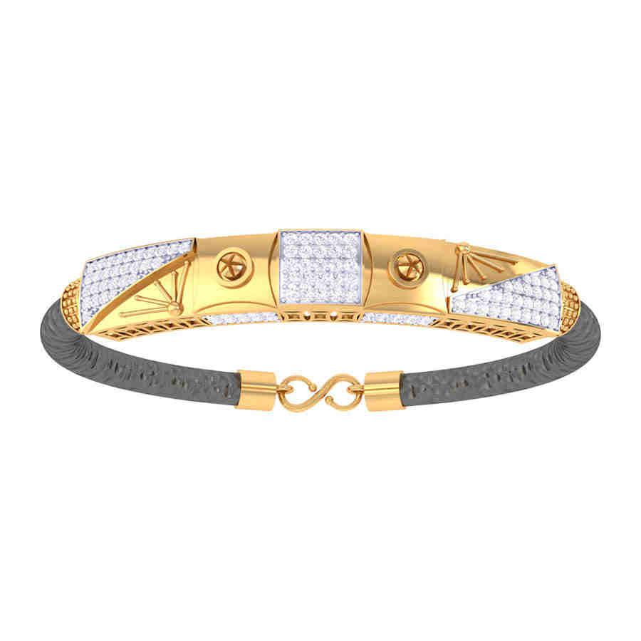 Center Square Diamond Bracelet