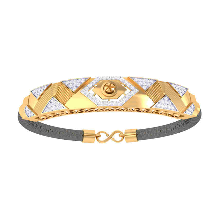 Zig Zag Design Diamond Bracele