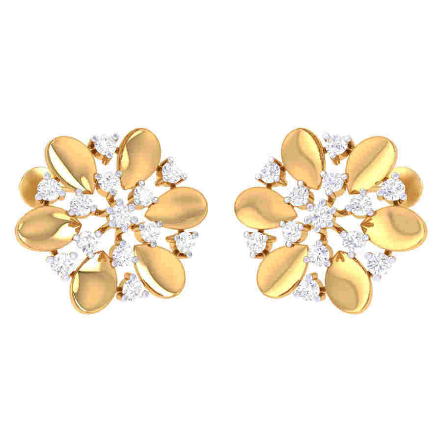 Fancy Look Flower Diamond Earr