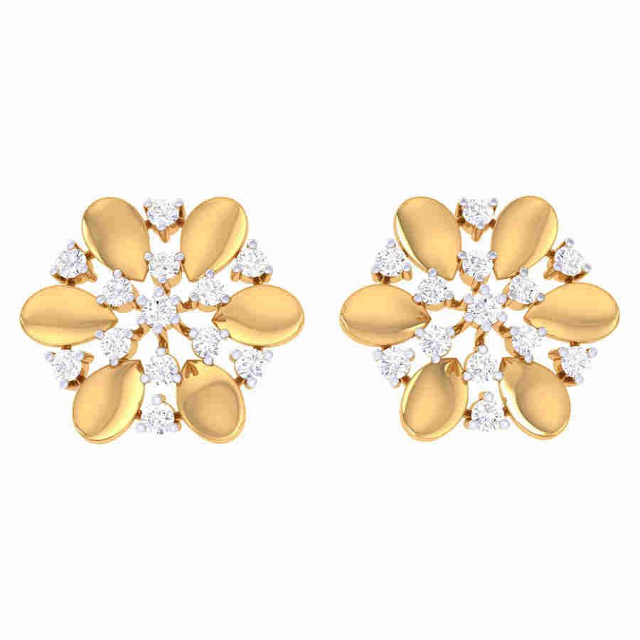 Fancy Look Flower Diamond Earr