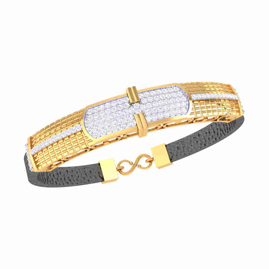 Round Rectangle Diamond Bracel