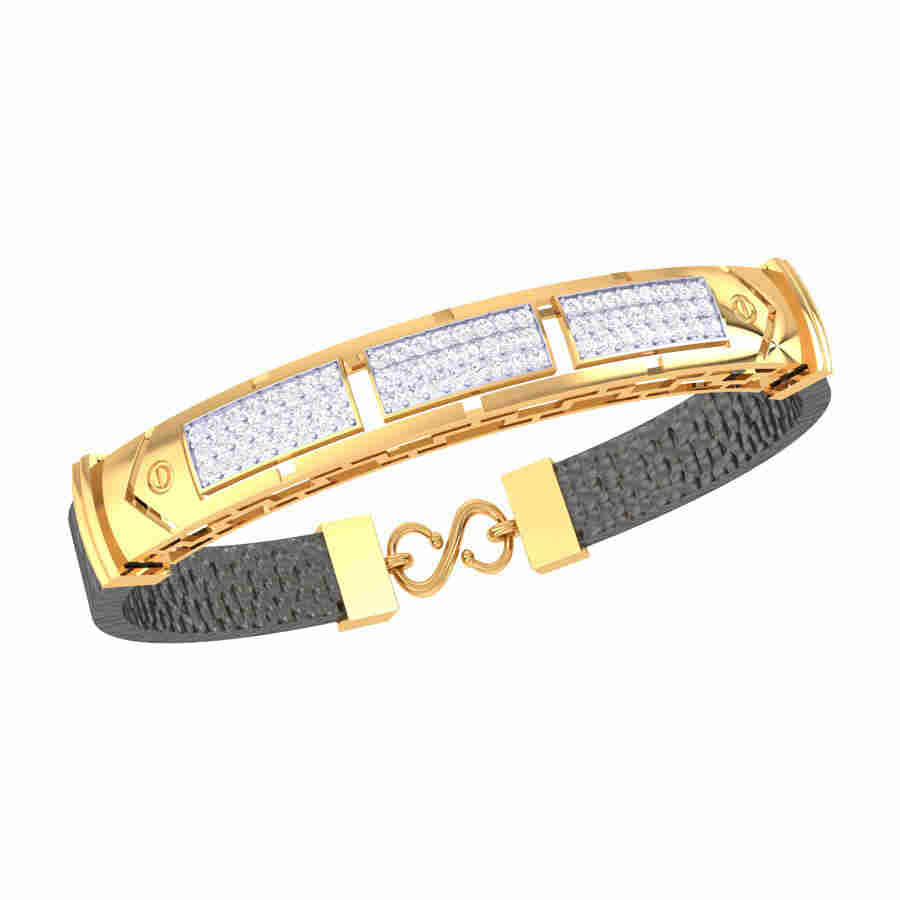 3 Rectangle Shape Diamond Brac