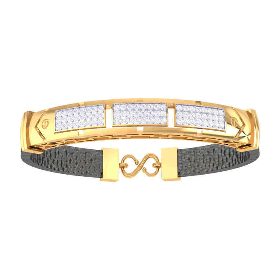 3 Rectangle Shape Diamond Brac
