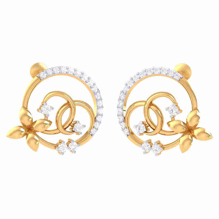 Classi Look Diamond Earring