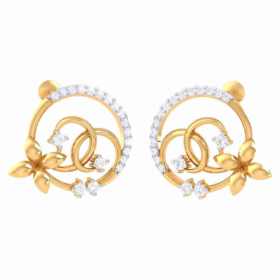Classi Look Diamond Earring