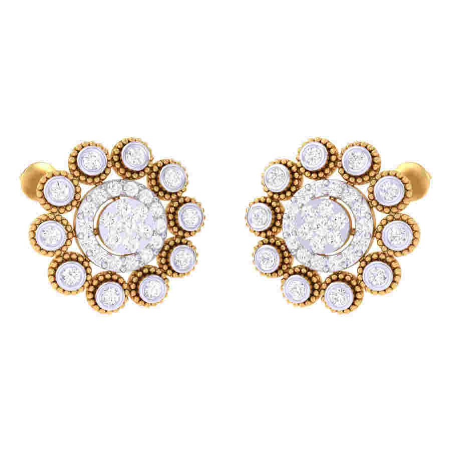 Dancing Flower Diamond Earring
