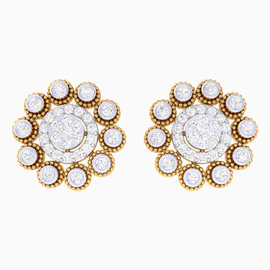 Dancing Flower Diamond Earring