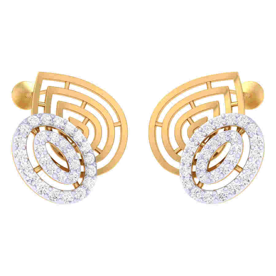 Twins Oval Shape Diamond Earri