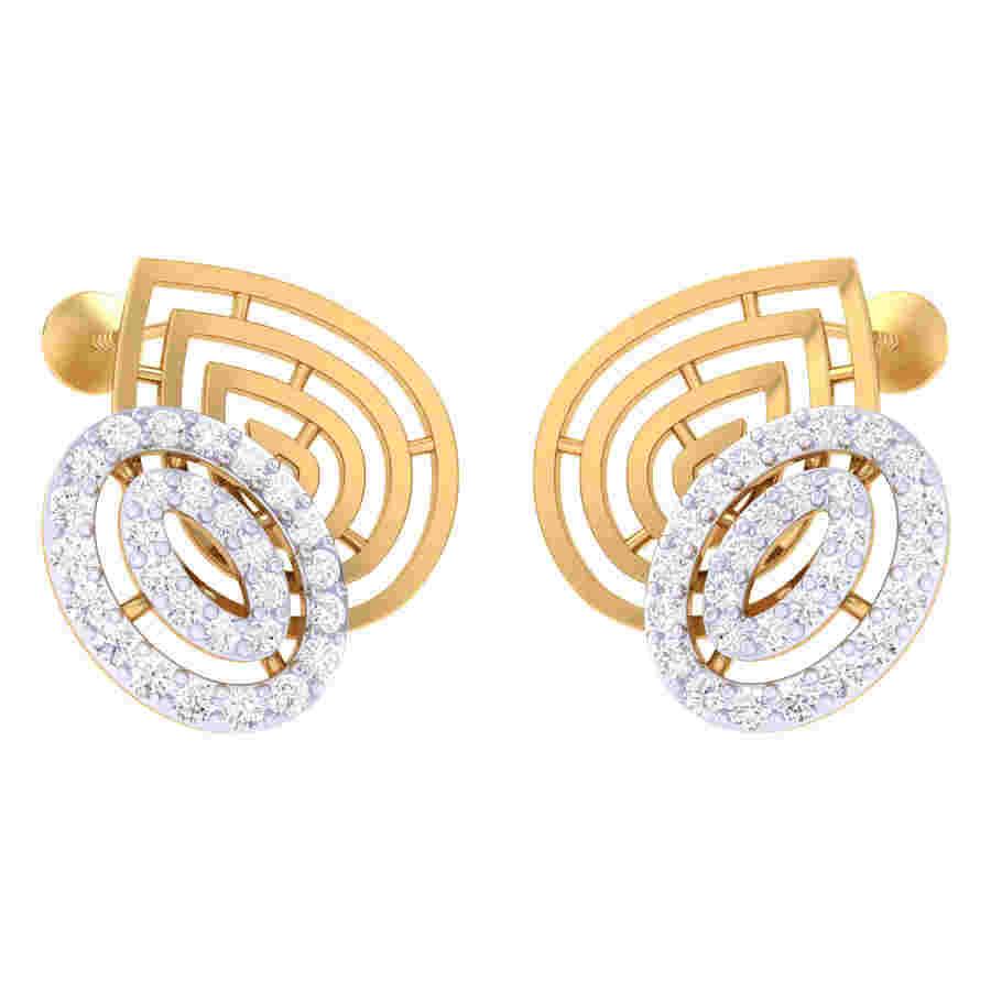 Twins Oval Shape Diamond Earri