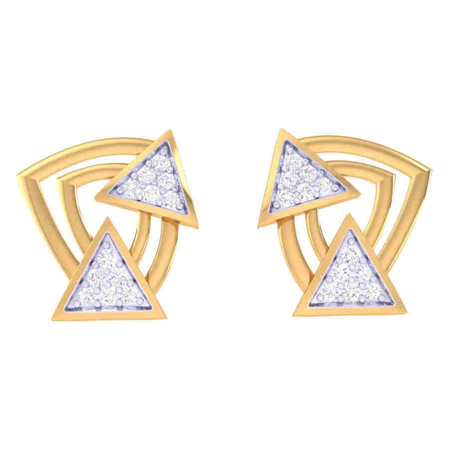 Twins Triangle Diamond Earring