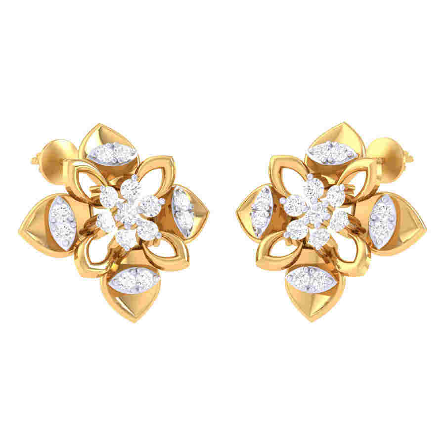 Dancing Design Diamond Earring
