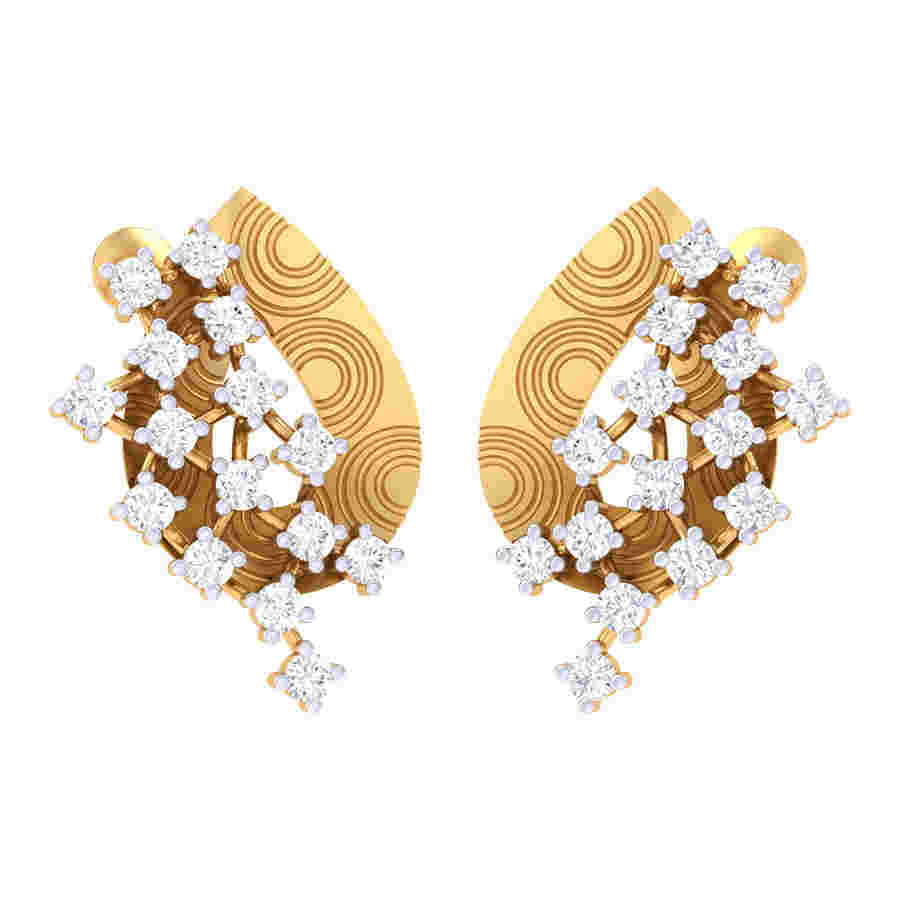 Zig Zag Way Diamond Earring