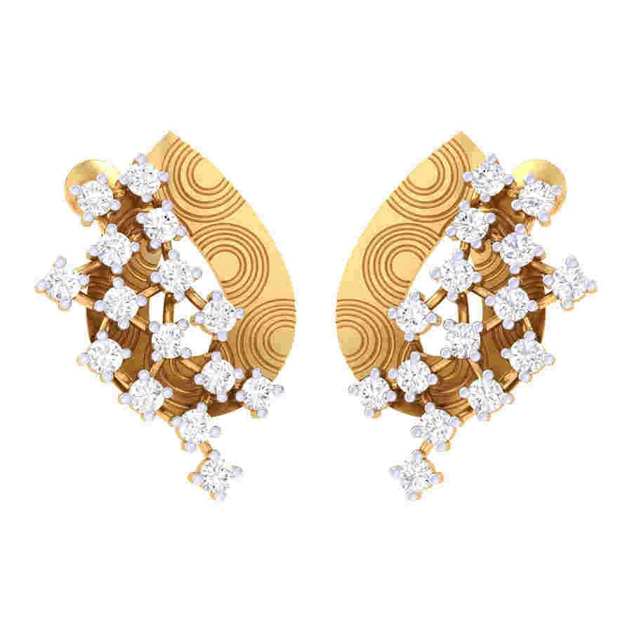 Zig Zag Way Diamond Earring
