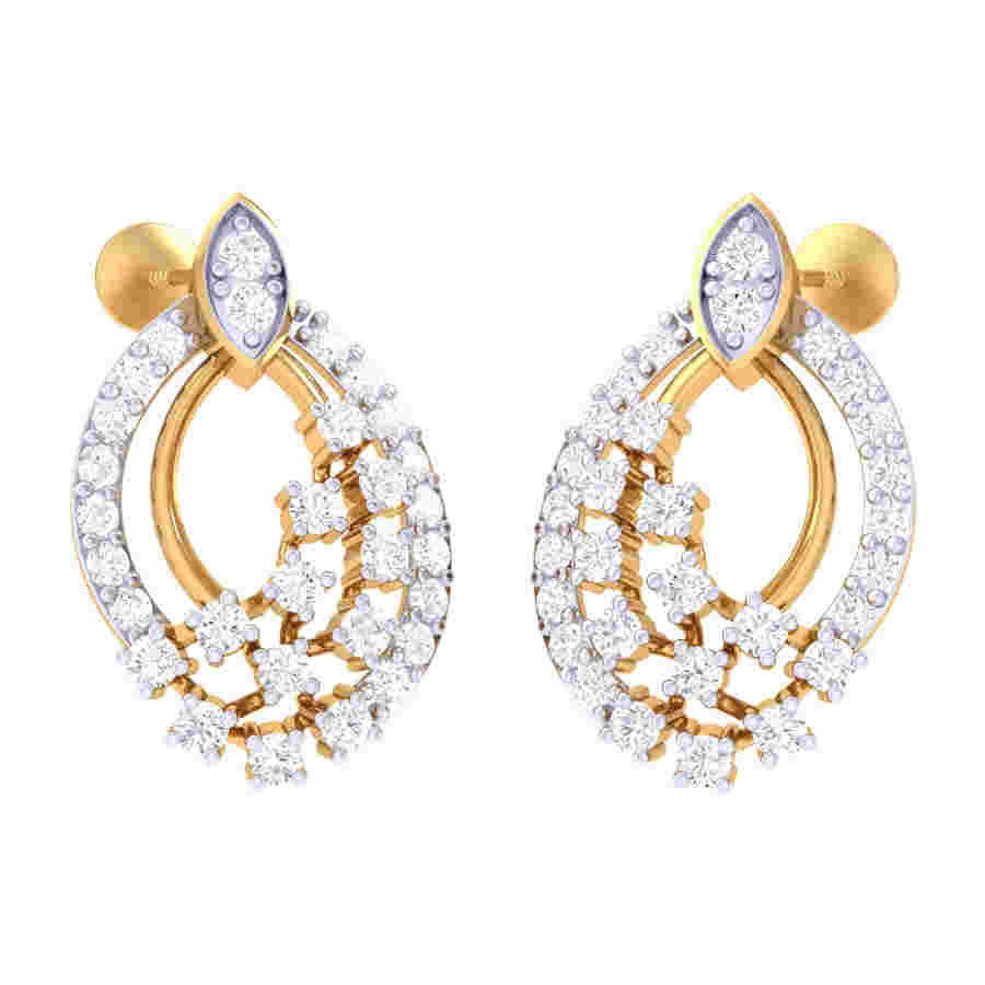286014754 Classic Design Diamond Earring | Kasturidiamond.com