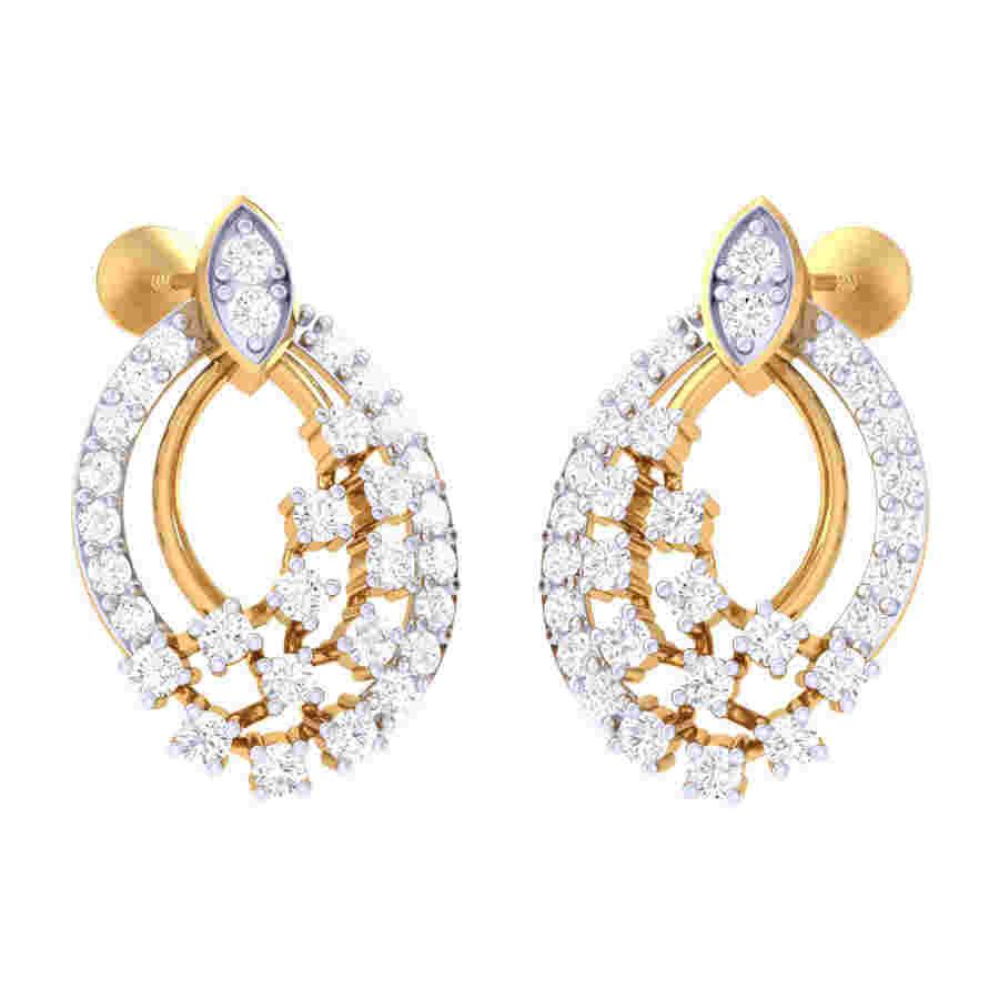 Classic Design Diamond Earring