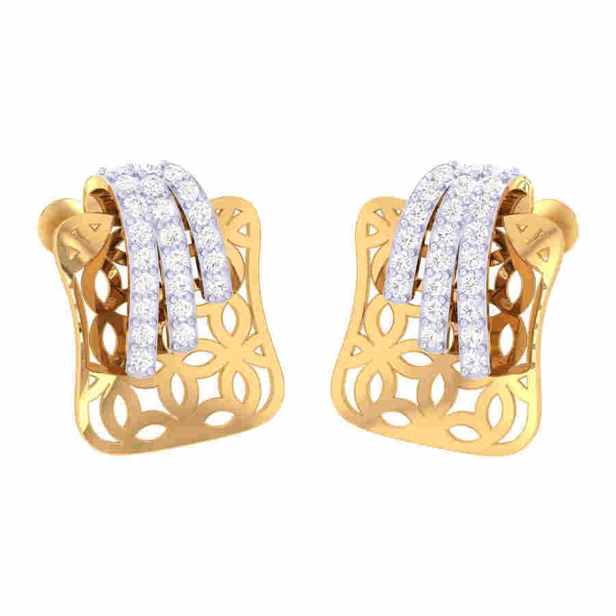 Meshed Diamond Earring