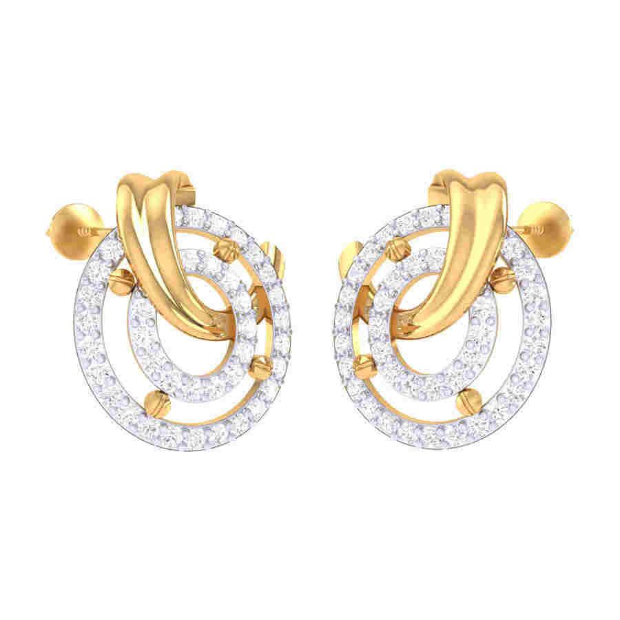 2 Rounded Diamond Earring