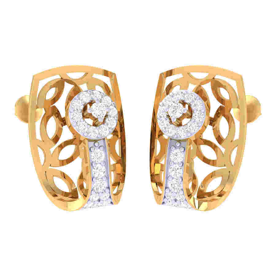 Neted Diamond Earring