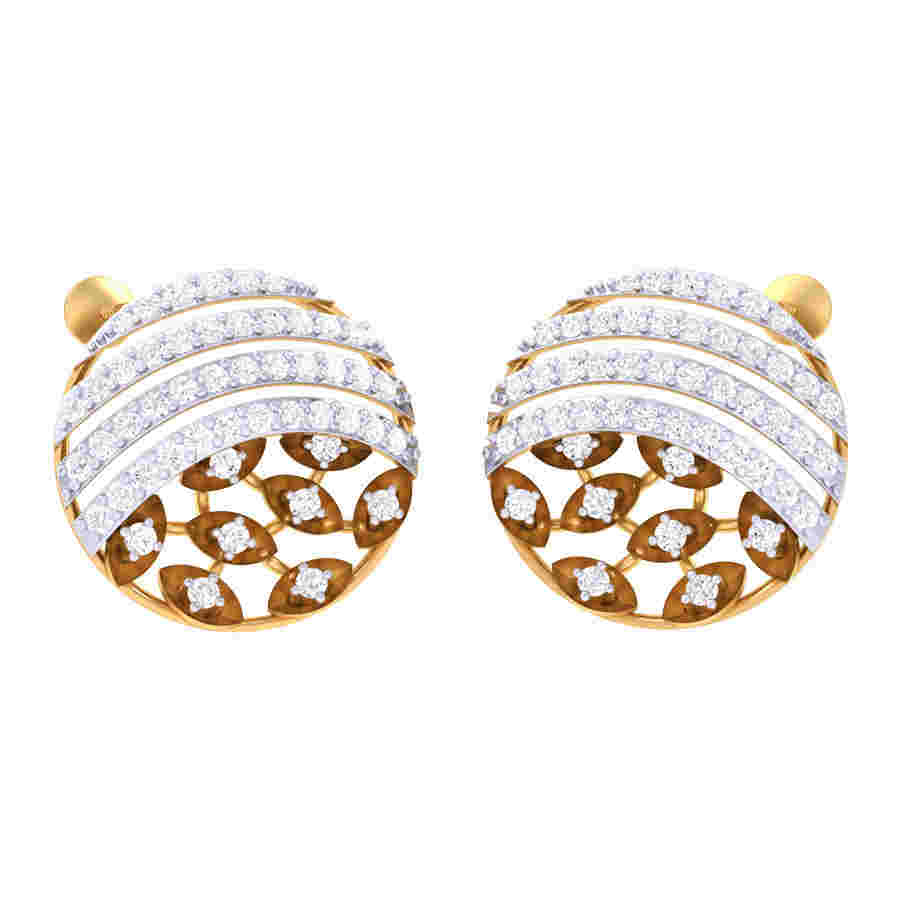 Circle Shape Diamond Earring