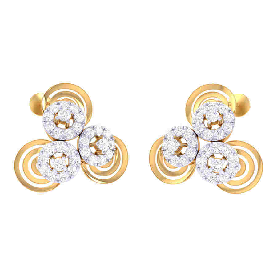 Twinkling Floral Diamond Earri