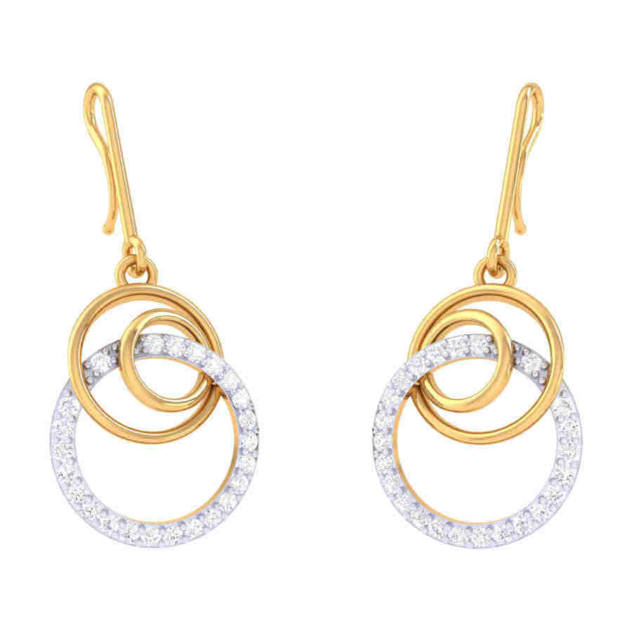 Fancy Drops Diamond Earring