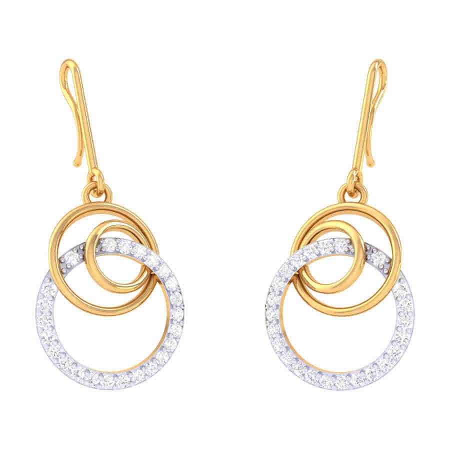 Fancy Drops Diamond Earring