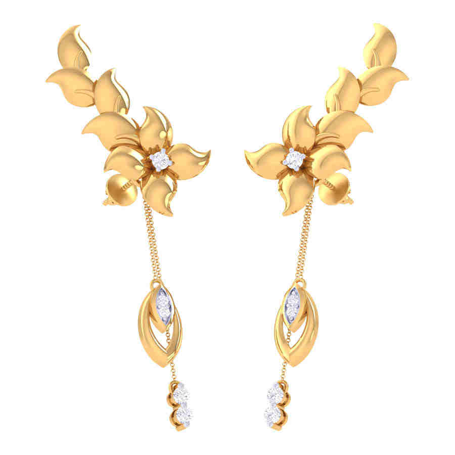 Keya Drop Diamond Earring