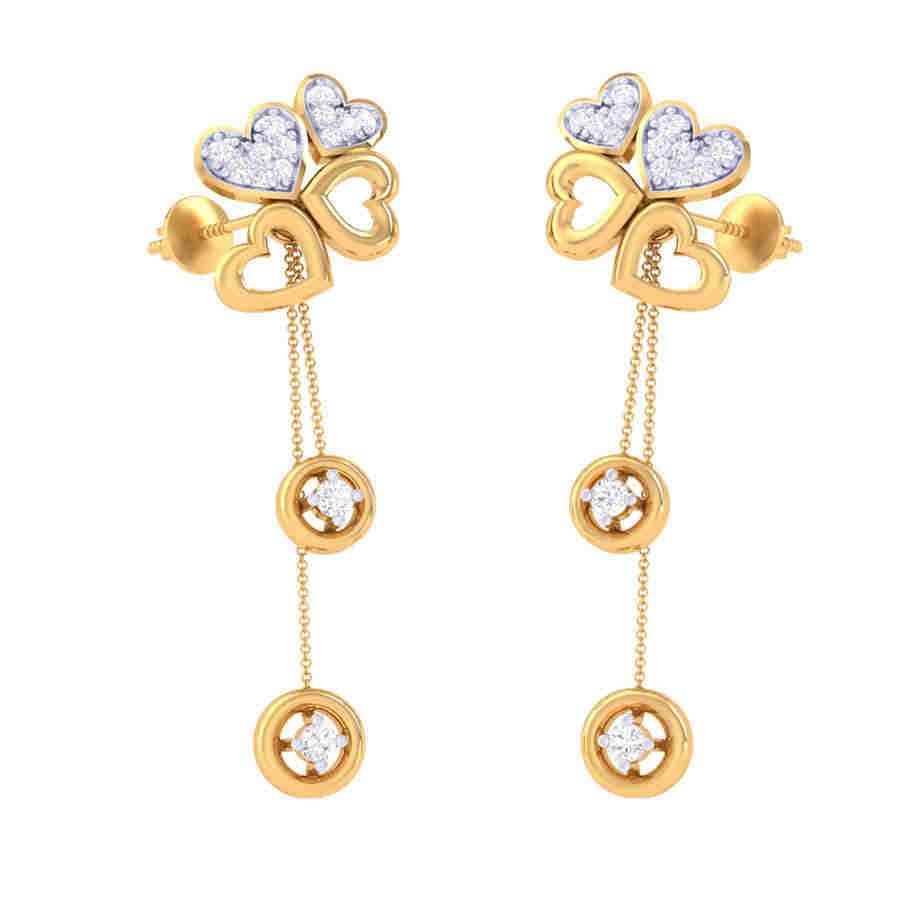 Heart Drop Diamond Earring
