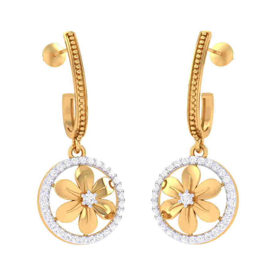 Orbit Diamond Earring