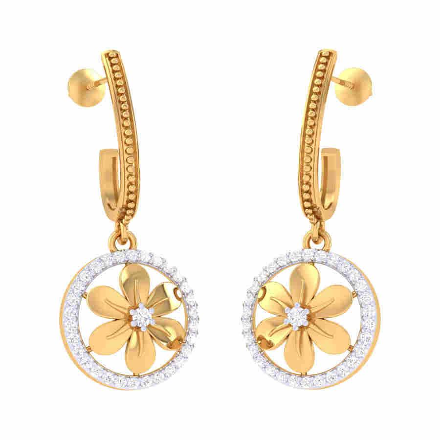 Orbit Diamond Earring