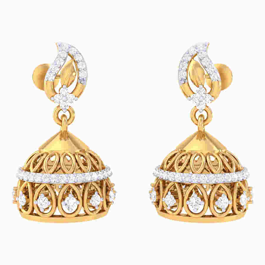 Jhumaki Diamond Earring