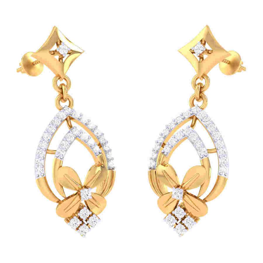 Classic Latkan Diamond Earring