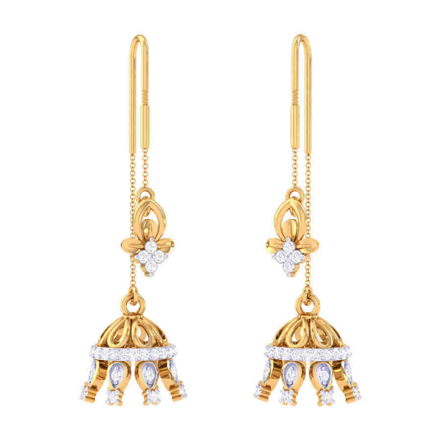 Jhumki Latkan Diamond Earring