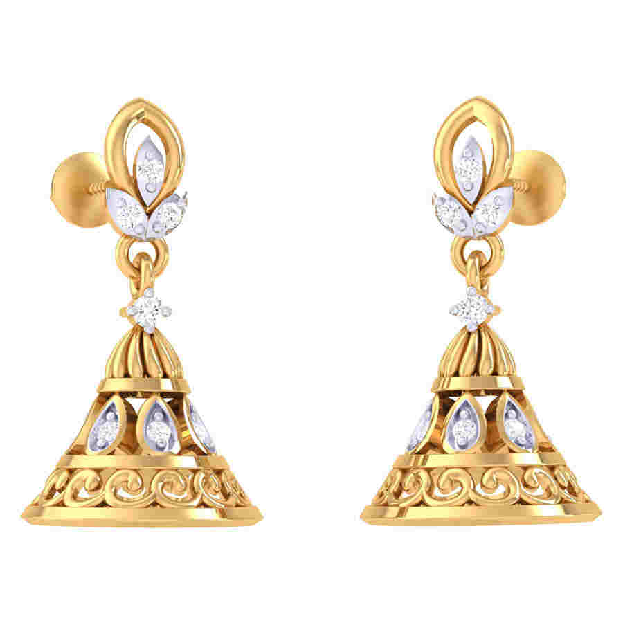 Stylish Jhumki Diamond Earring