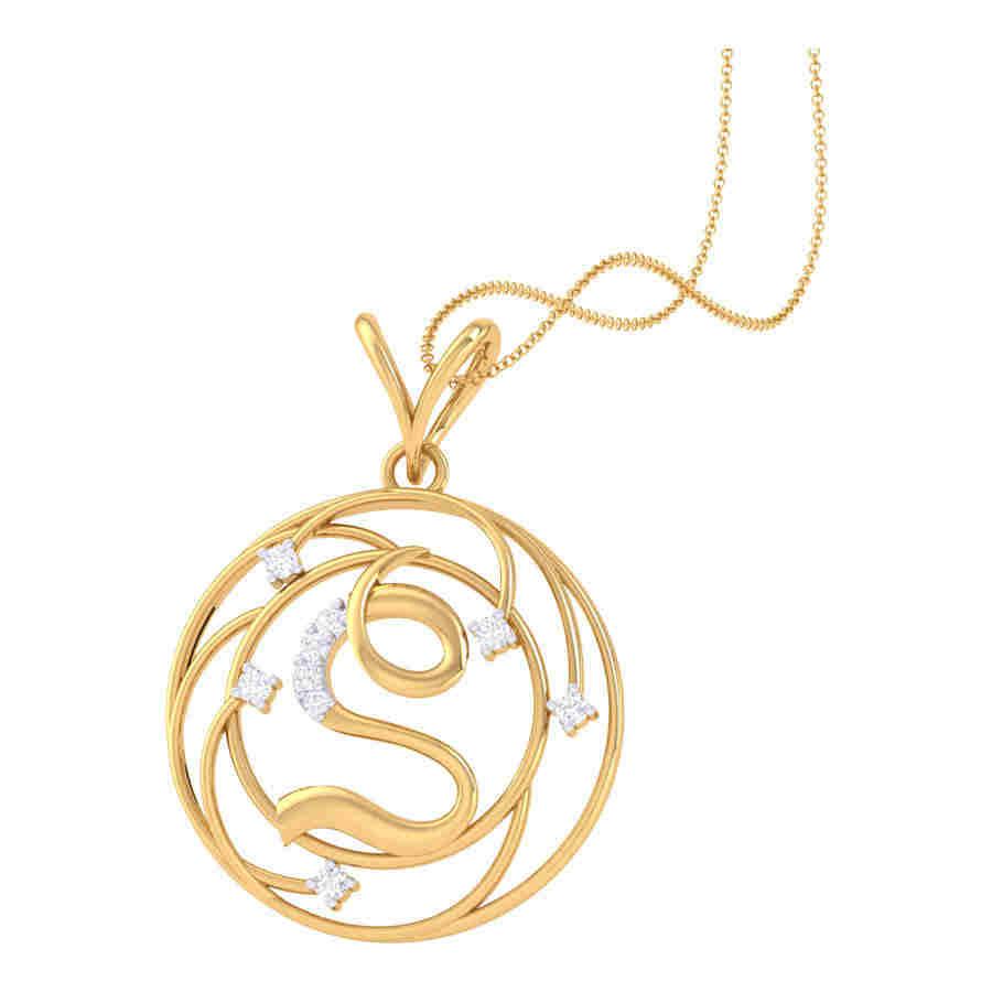 S Shape Diamond Pendant