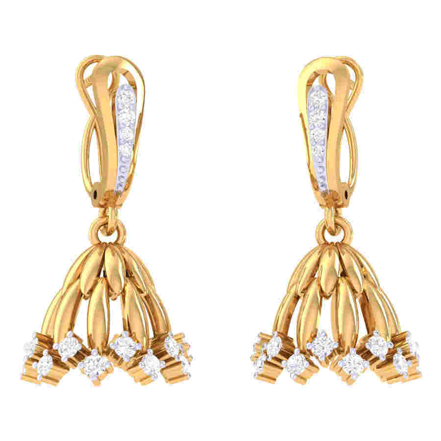 Neted Jhumki Diamond Earring