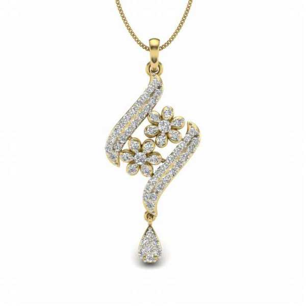 Duo Floret Diamond Pendant