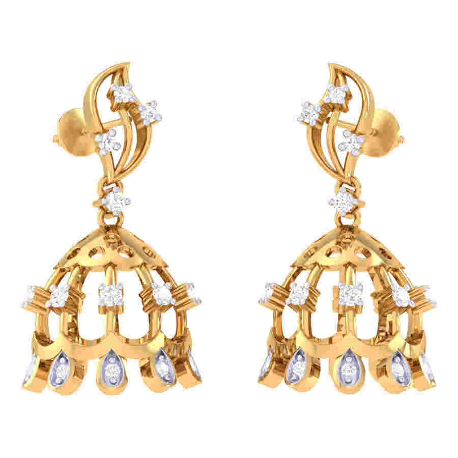 Mehak Jhumki Diamond Earring