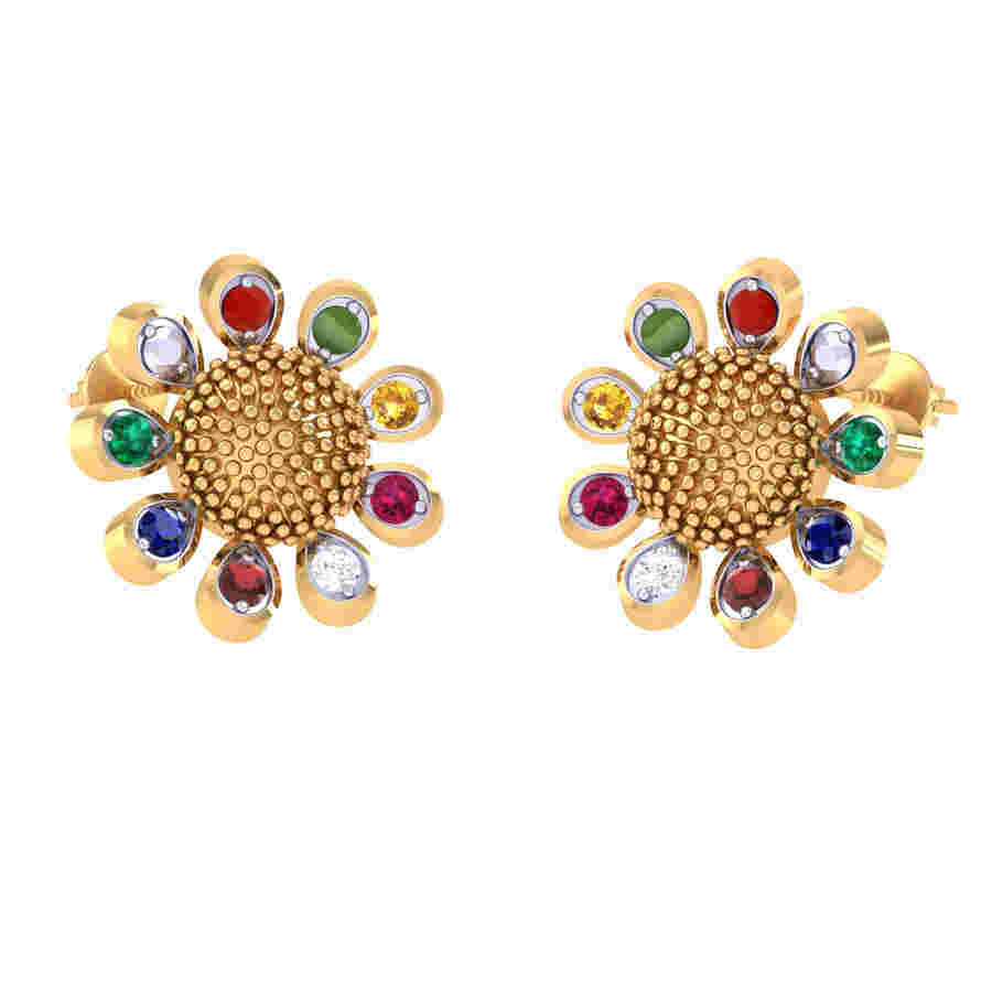 Navratna Diamond Earring