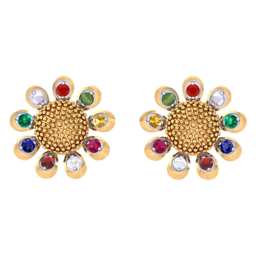 Navratna Diamond Earring