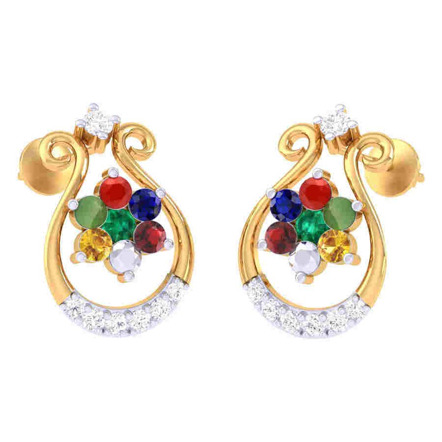 Navratna Stylish Earring