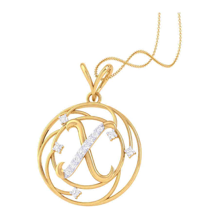 X Shape Diamond Pendant