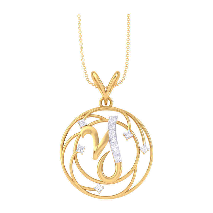 Y Shape Diamond Pendant