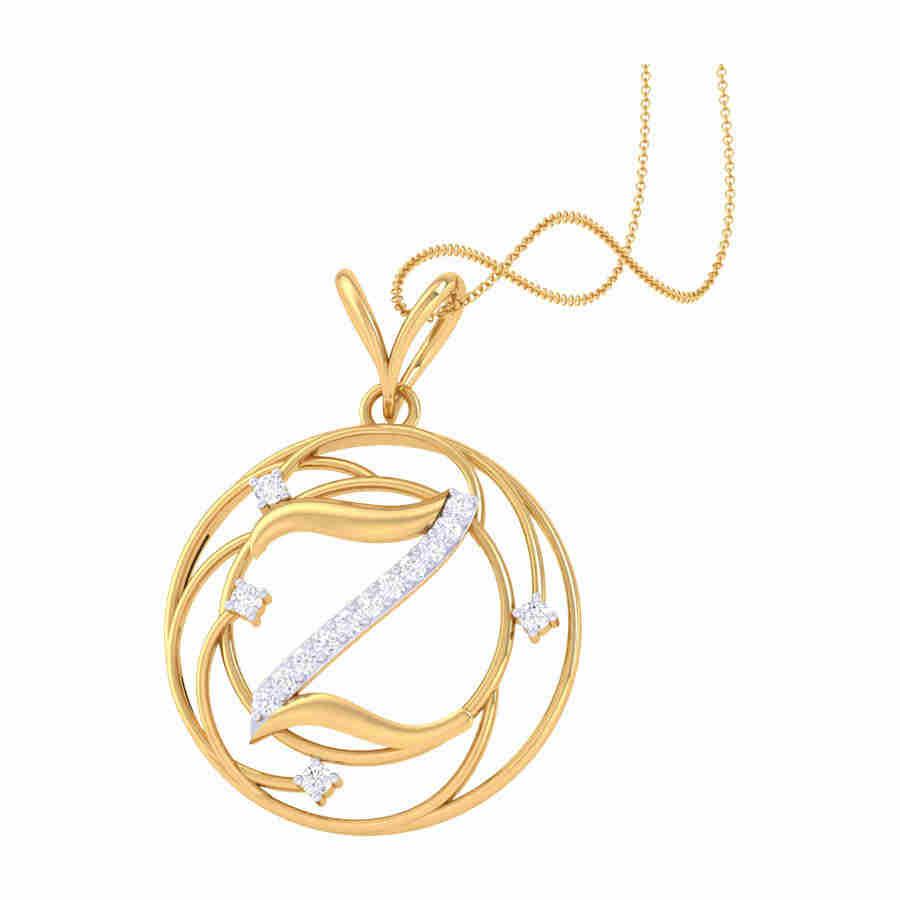 Z Shape Diamond Pendant
