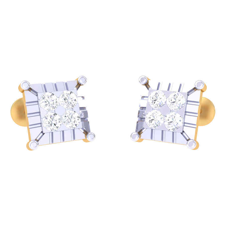 Princess Cut Diamond Stud Earr